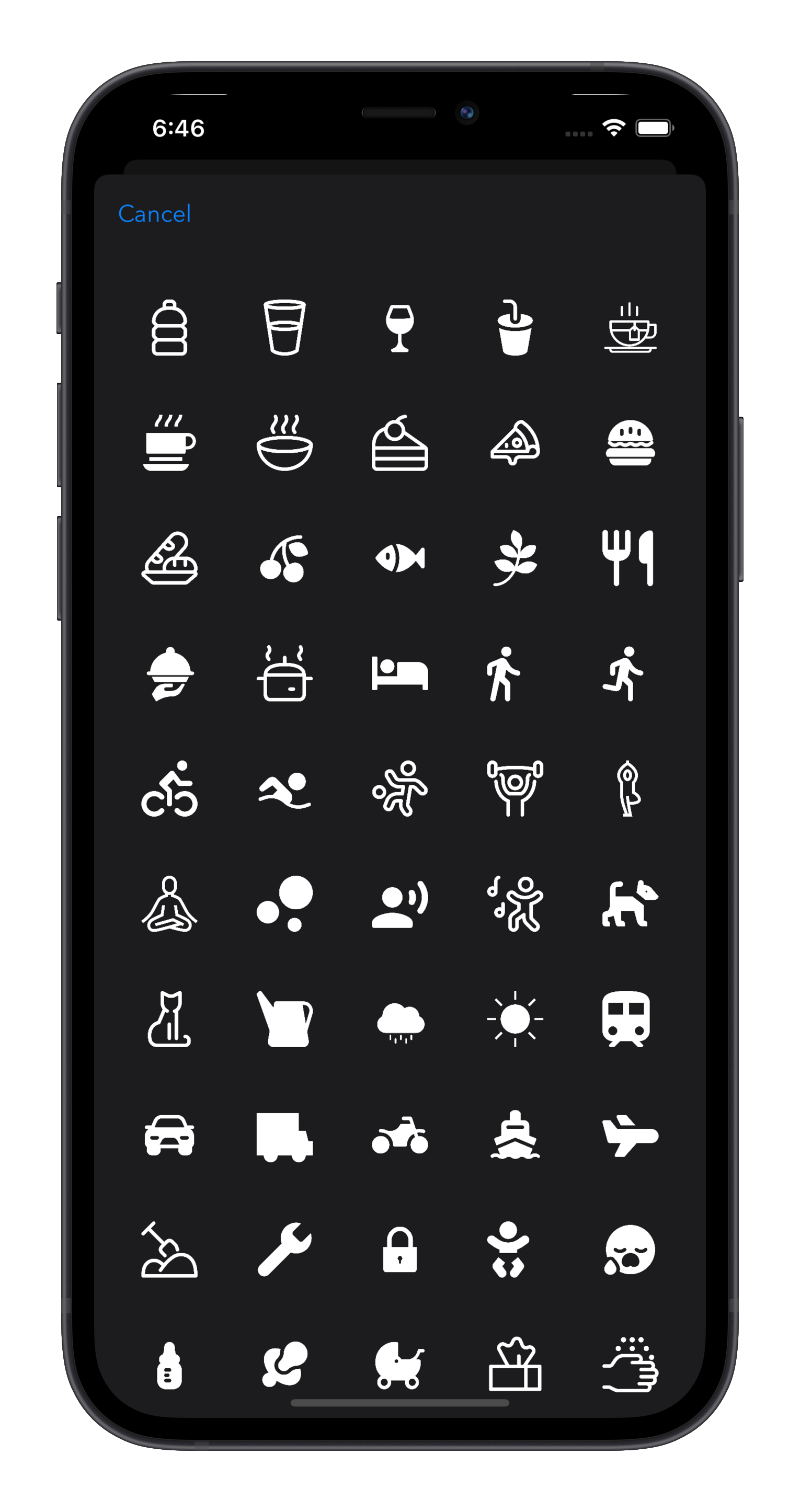 Log A Day select an icon