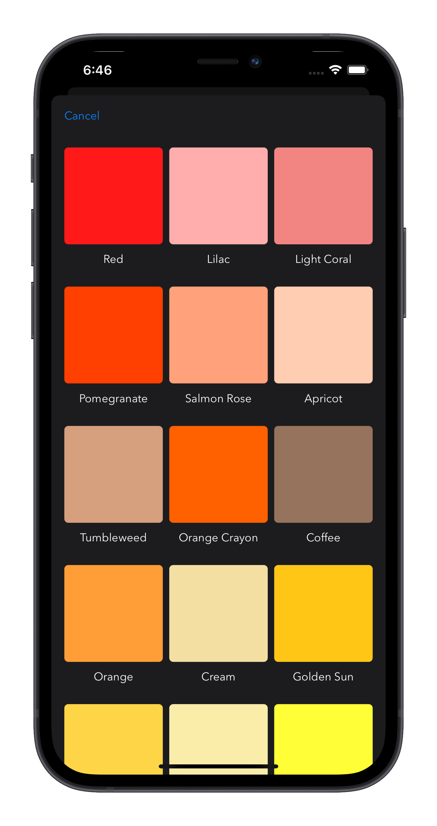Log A Day select a color