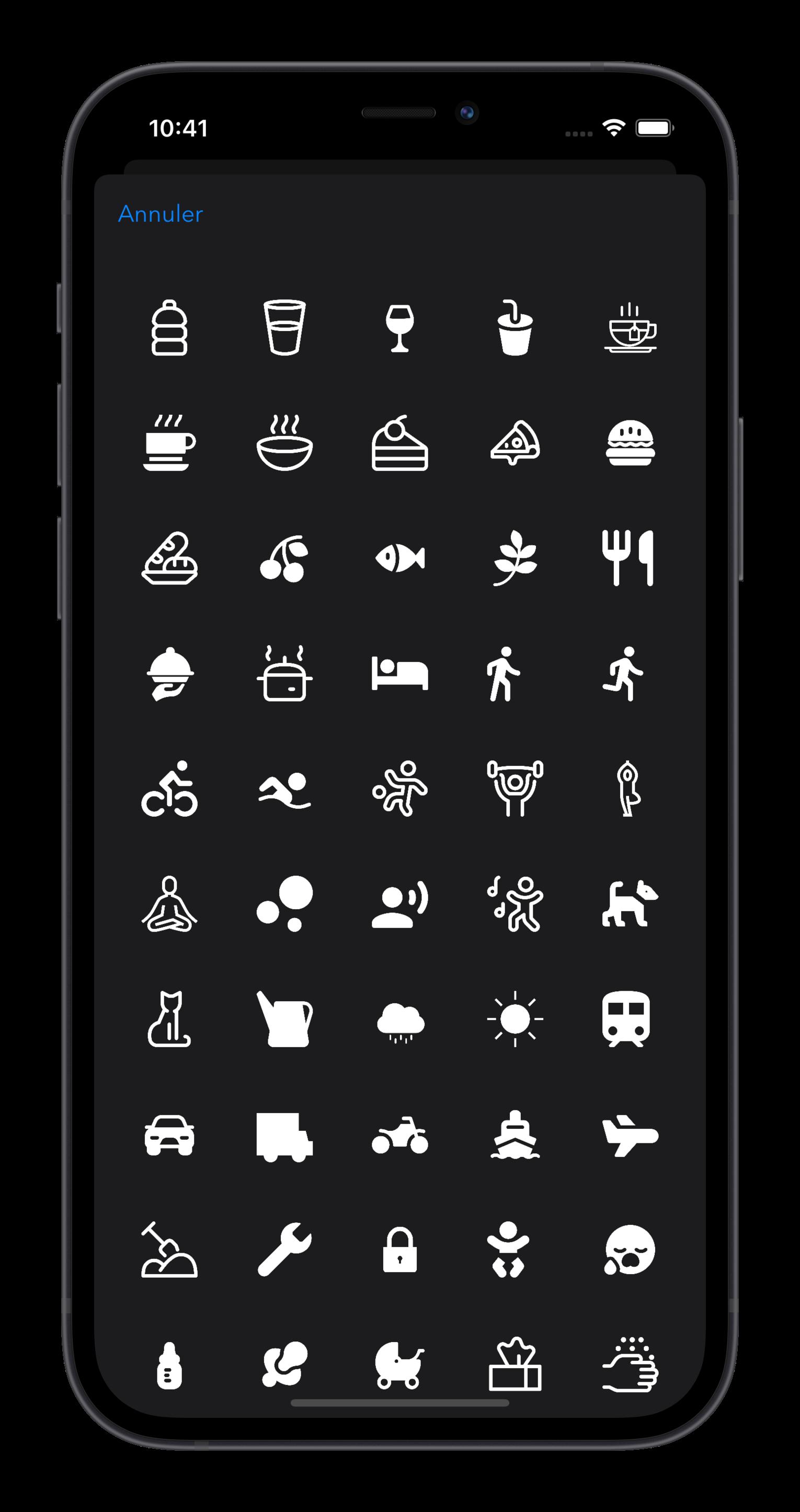 Actions Du Jour choisir un icone